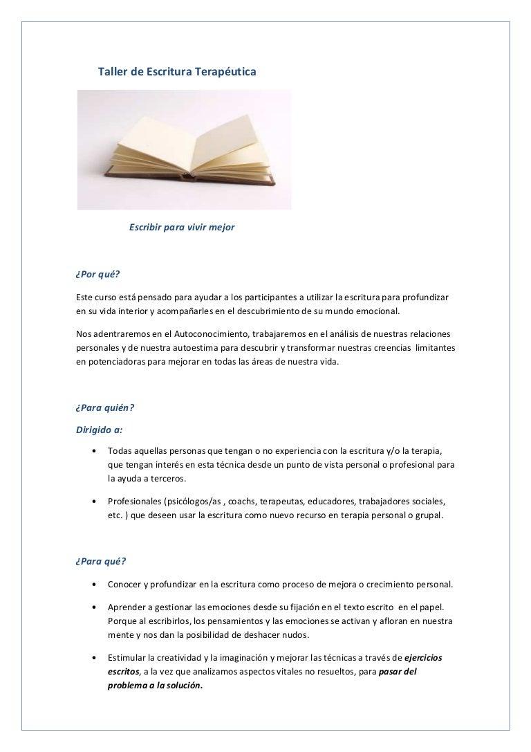 La escritura como recurso terapéutico