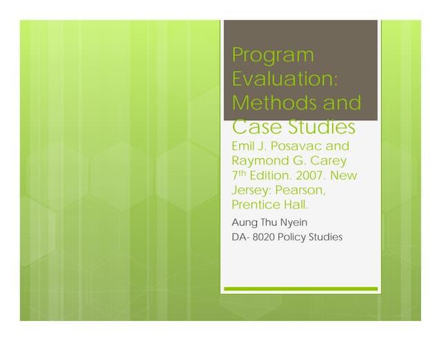 Program evaluation 20121016