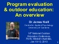 Program evaluation and outdoor education: An overview