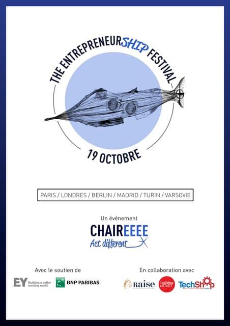 Programme EntrepreneurSHIP Festival - 19 octobre 2016