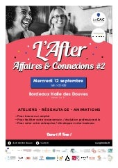 Programme de l'After Affaires & Connexions 2018 du CAC