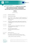 Programme, Legal Protection in Public Procurement, Pristina, 10 July 2014_eng