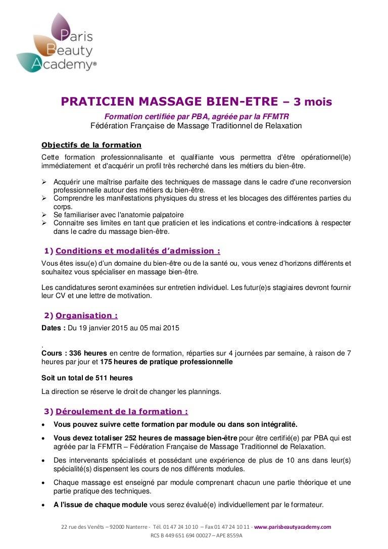 programme massage bien  u00eatre 2014