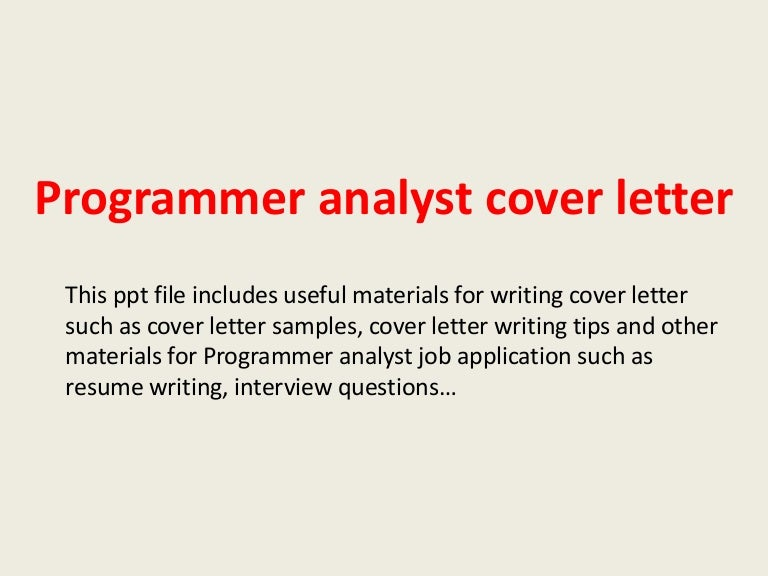 programmer cover letter examples