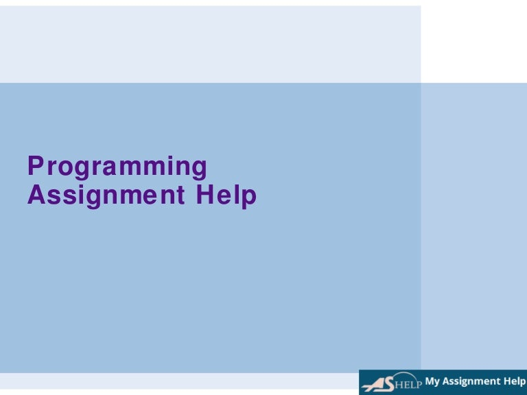 programming assignment help by myassignmenthelp