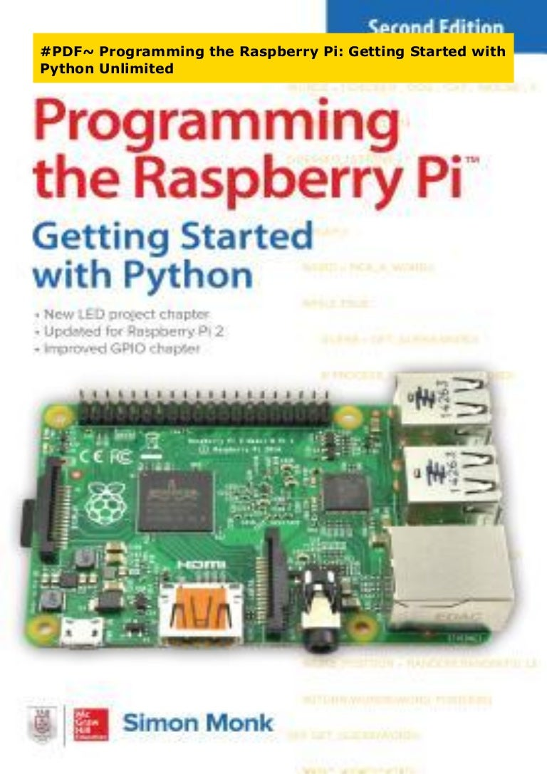 Pdf Programming The Raspberry Pi Getting Started With Python Unlim