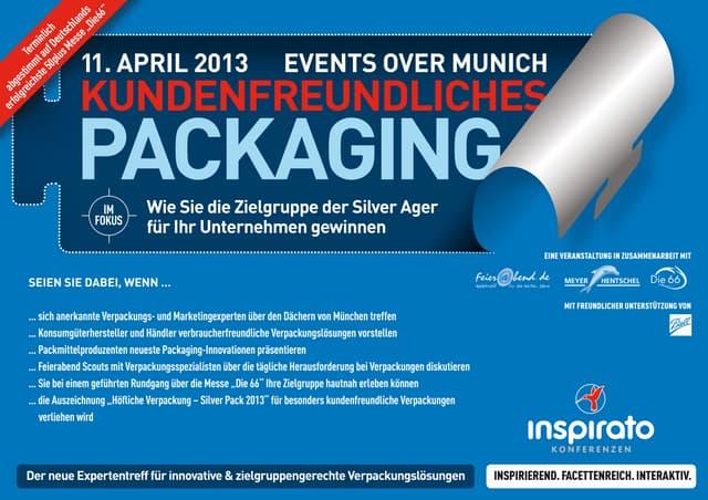 """inspirato Konferenz """"Kundenfreundliches Packaging""""  - 11. April 2013 in München"""