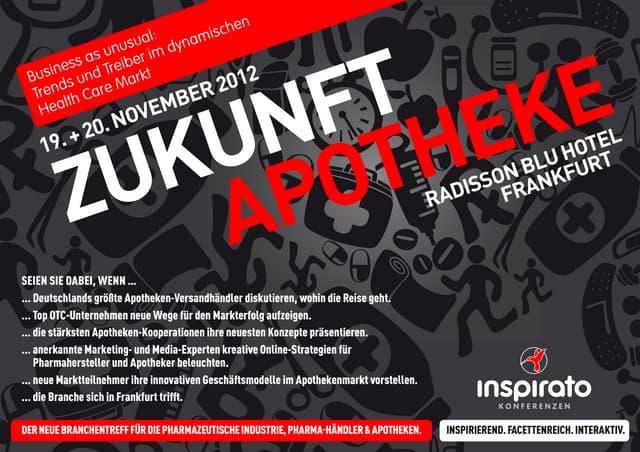Programm Zukunft Apotheke 2012