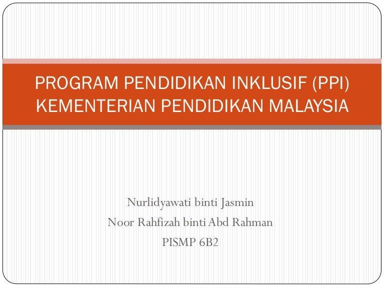 Program Pendidikan Inklusif Ppi Kpm