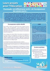 Programme éducation Cheminade