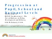 Progression At Pupil, School And National Levels