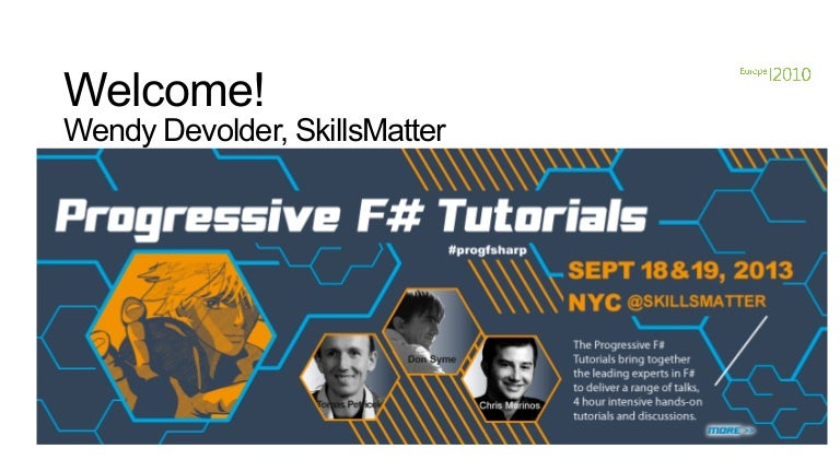 Progressive f# tutorials nyc don syme on keynote f# in the open sourc…
