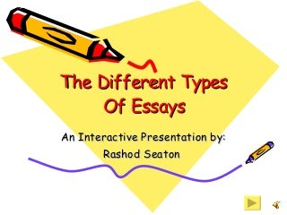 Kinds of Essays - Writing Tips - TestDEN