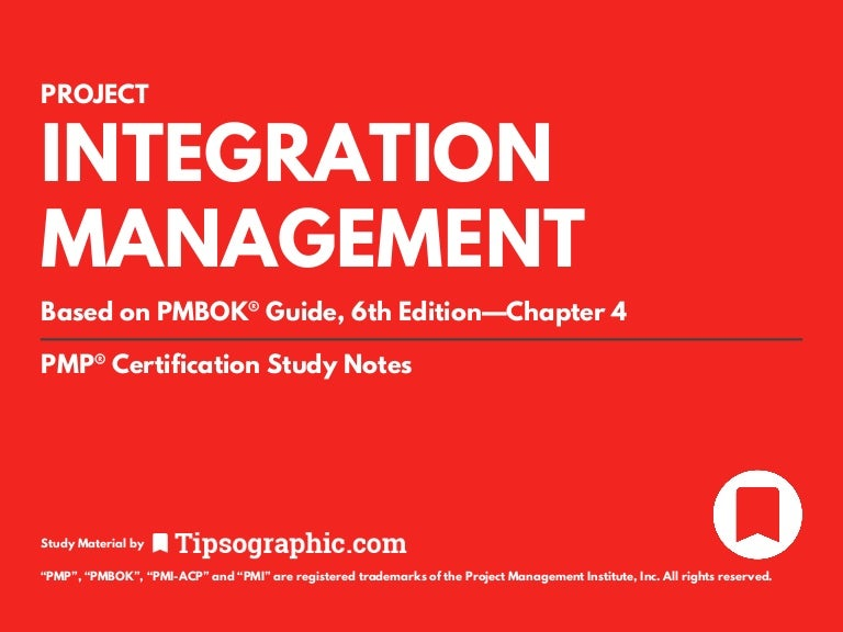 Pmp Certification Study Material Project Integration Management Fo