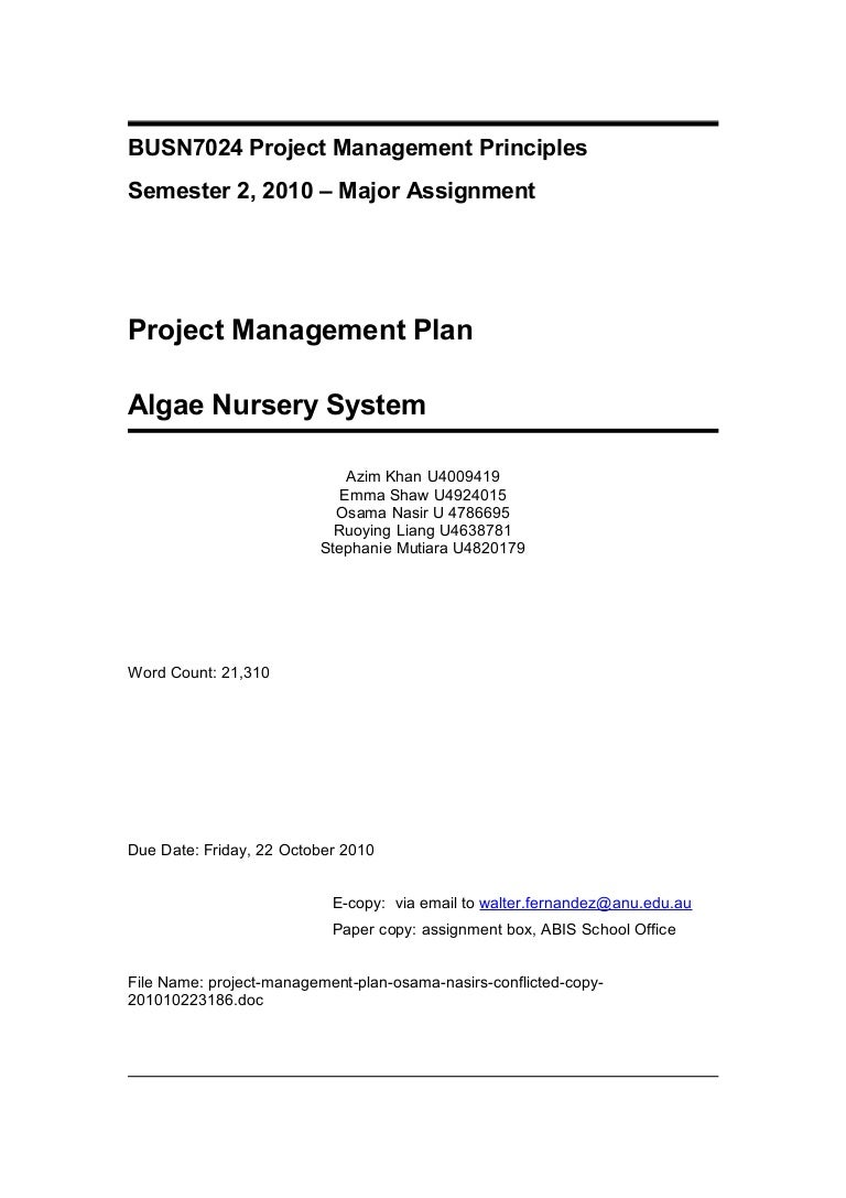 project management plan osama nasir s conflicted copy