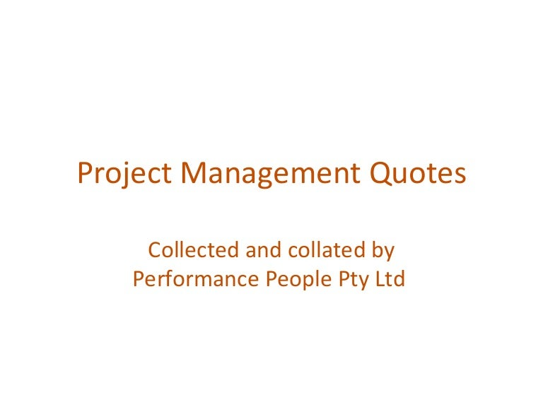 Project Management Quotes Pipe – Project Quote