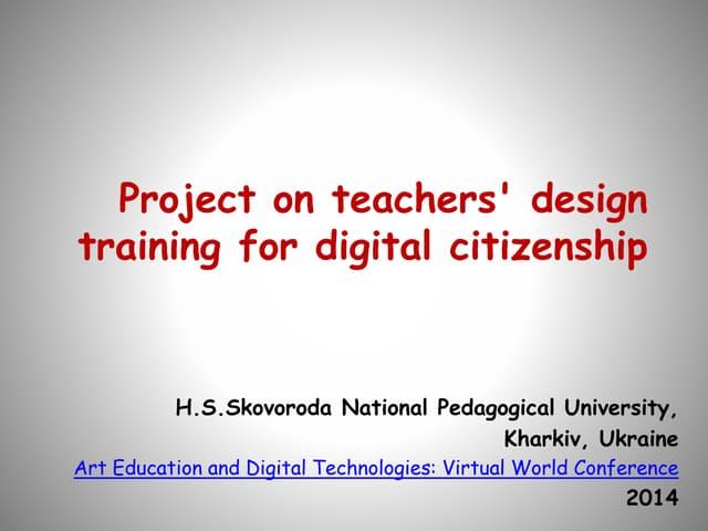 Project on teachers design training