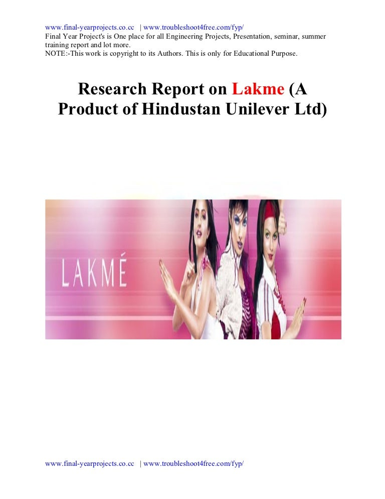 Project report-on-lakme
