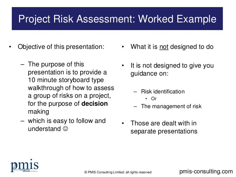Project Risk Management Template. Sample_Risk_Profile