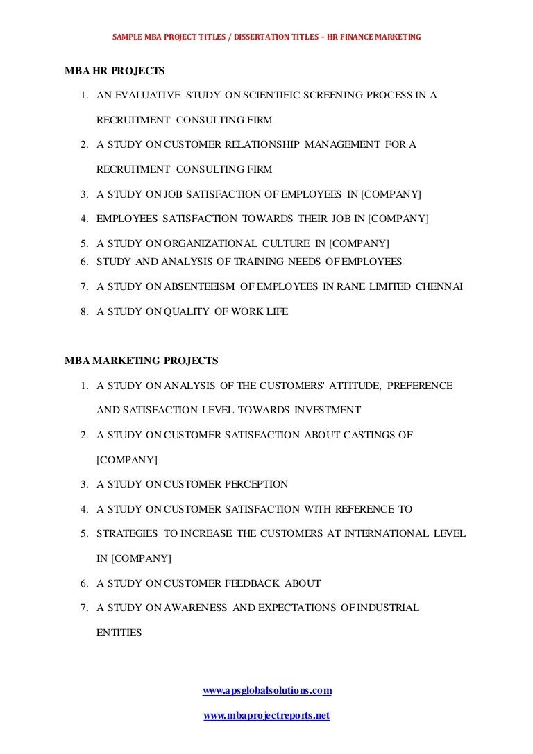 Project Titles Mba dissertations Report Download In Hr Finance And M… Project Titles Mba Dissertations Report  Lva App Thumbnail  Project Titles Mbadissertations Report Download In Hr Finance And Marketing