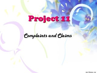 商务英语函电-Project 11