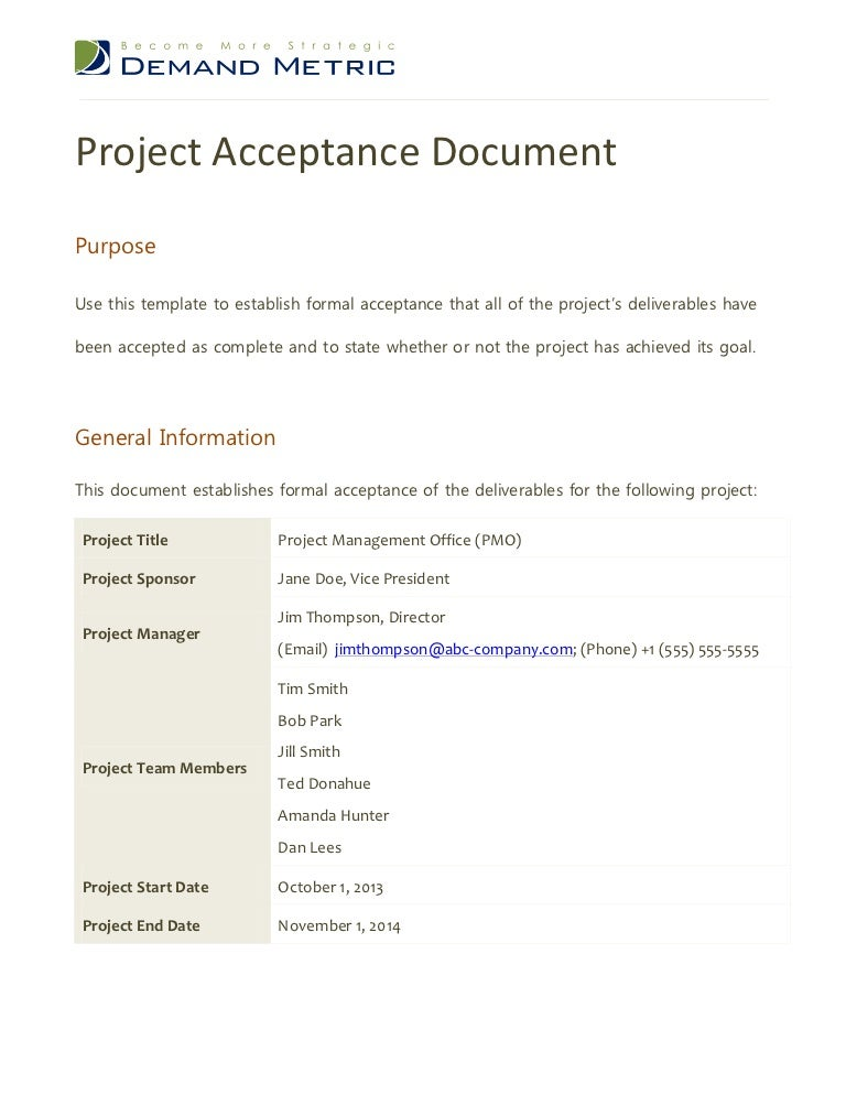 project acceptance form template - Boat.jeremyeaton.co