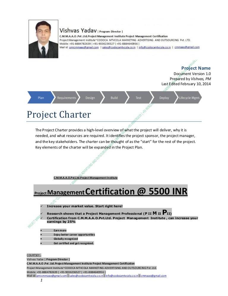 Project Charter V1b Cmmaao Pmi Pmp