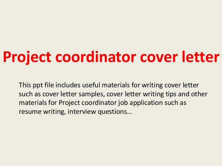 Sample Cover Letter For Project Coordinator | Resume CV Cover Letter