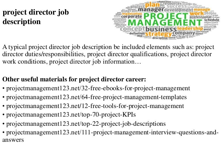 Project director job description – Marketing Supervisor Job Description