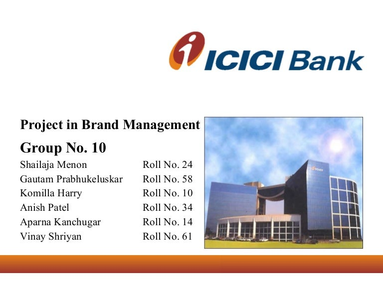 Home loan project of icici bank