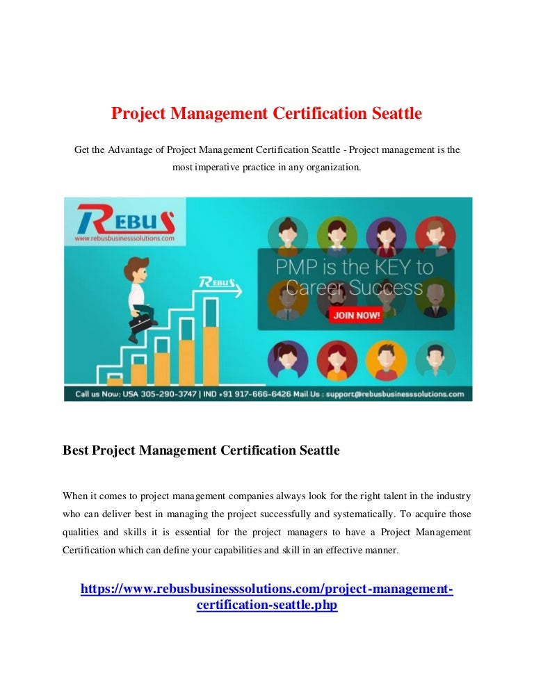 Project Management Certification Seattle