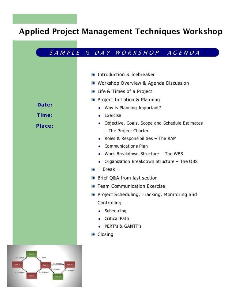 training meeting agenda template