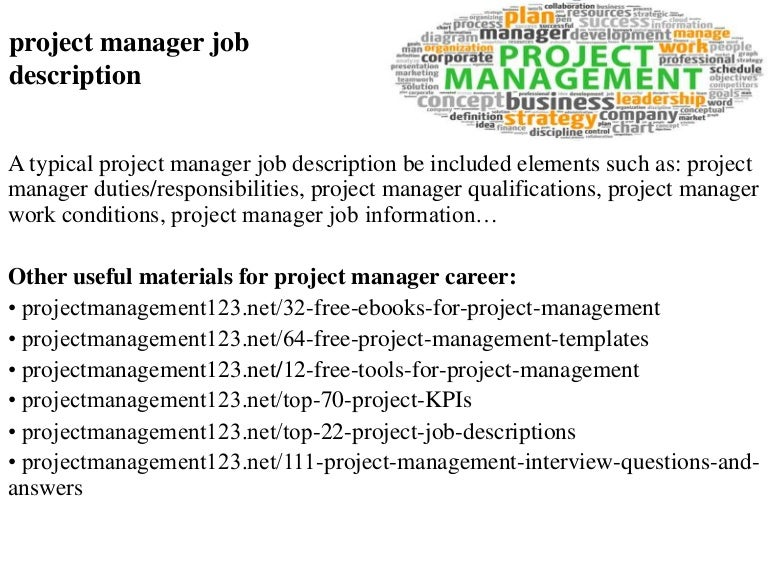project manager position description