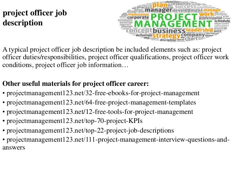 job description for project manager