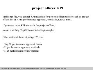 project support officer resume