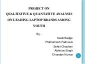 Project on leading laptop brands new