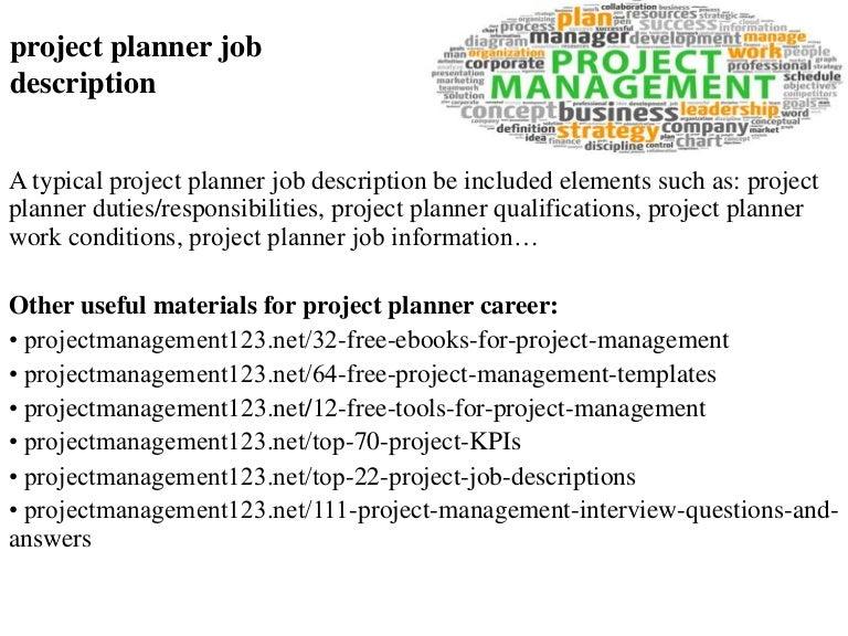 Project planner job description – Scheduler Job Description