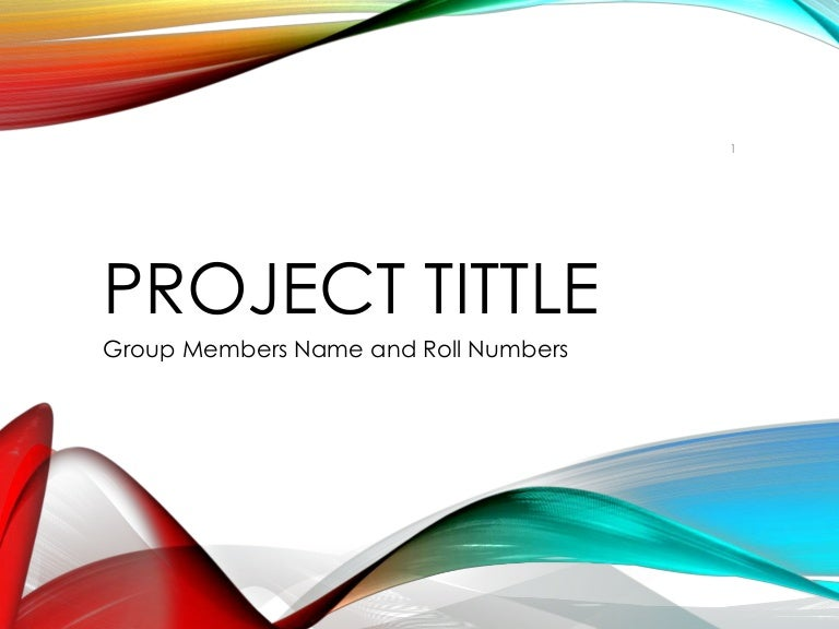 Project Presentation Template