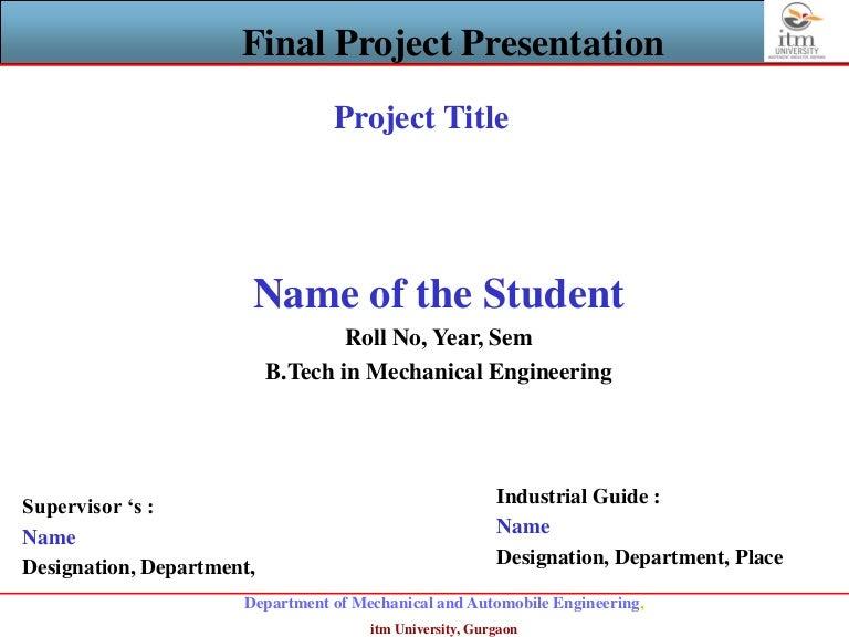 project presentation template
