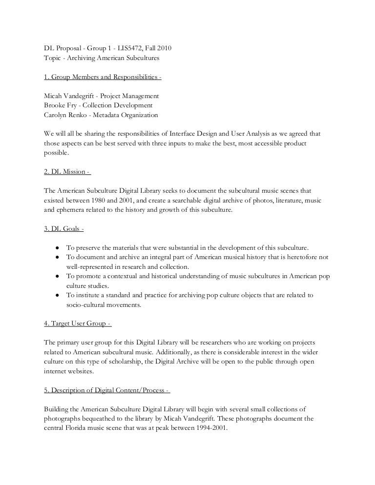 Digital Library Project Proposal – Project Management Proposal Template Free
