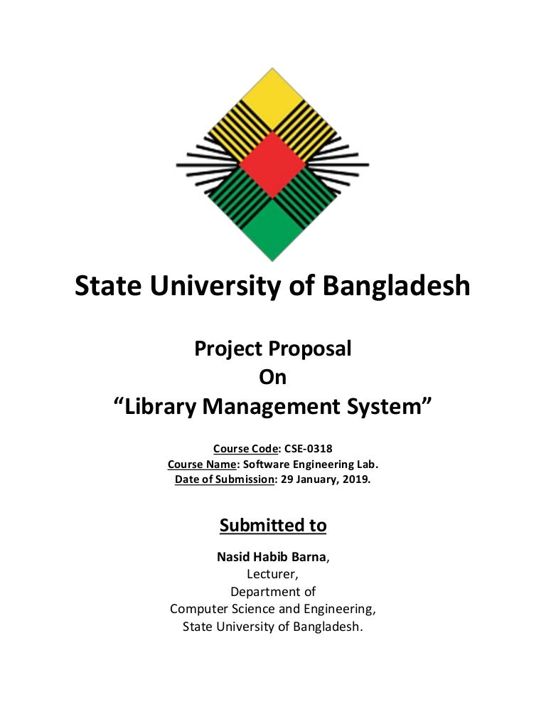 Project proposal of Library Management System