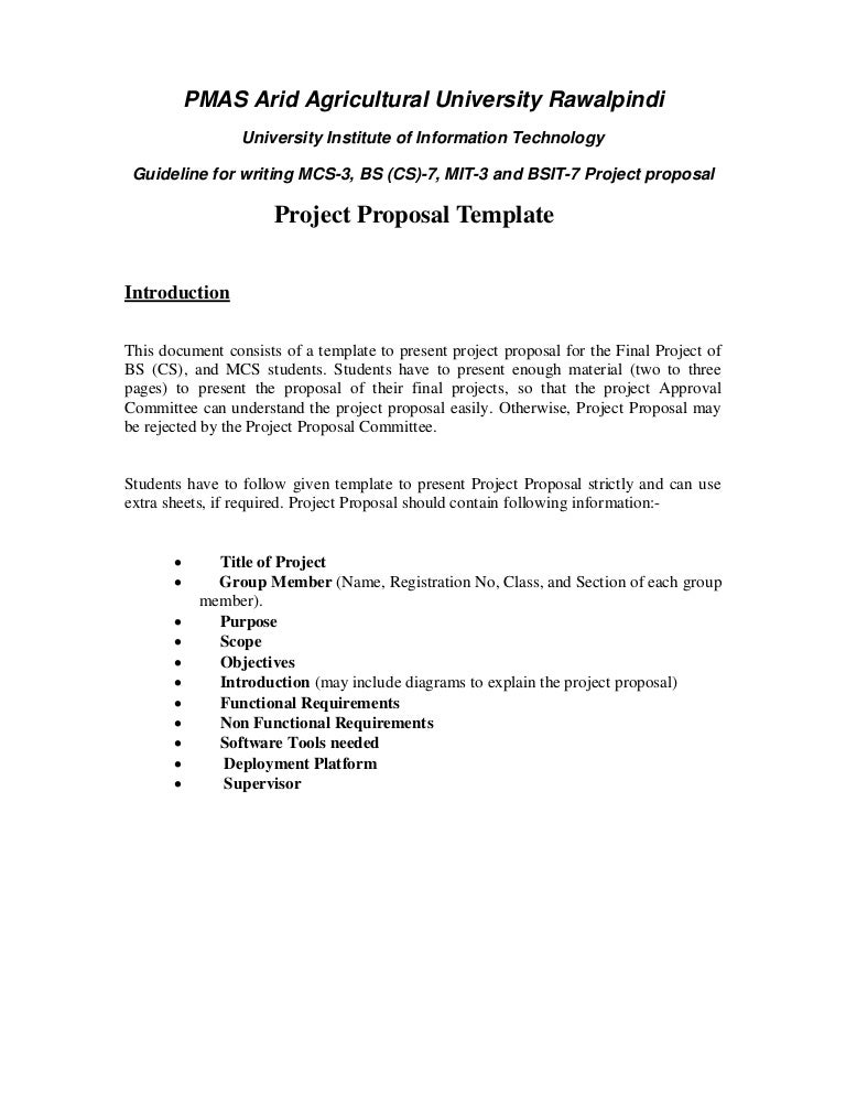 Engineering Project Proposal Format