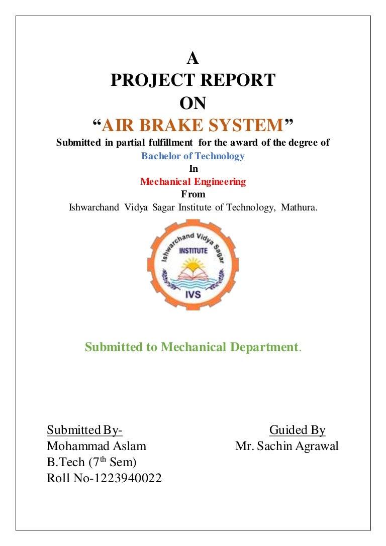 Air Brake System Brakes Schematic