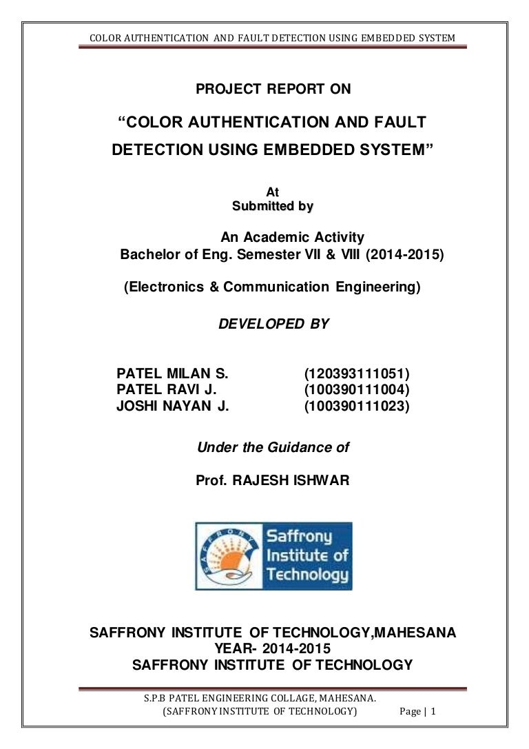 Color Authentication And Fault Detection Using Embedded System How Micro Switch Works Working Of Engineersgarage Projectreportfinal 150501114755 Conversion Gate01 Thumbnail 4cb1430481919