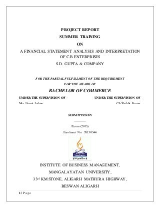 Review of literature on financial statement analysis