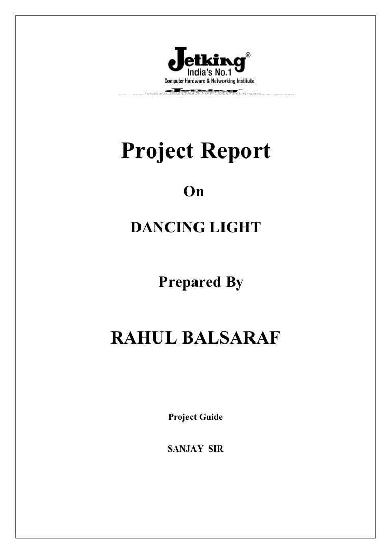 Project Report On Dancing Light Tube Wiring Diagram Pdf