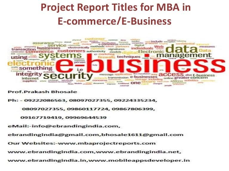 e commerce thesis topics