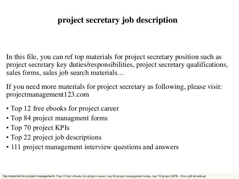Project Secretary