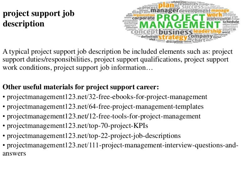 Project Support Job Description
