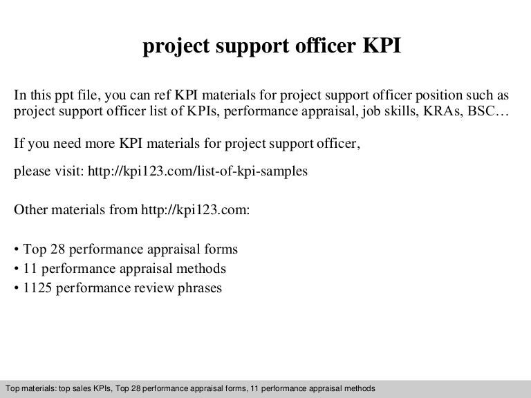 how to become a project support officer